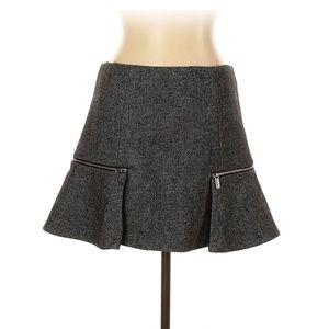 MICHAEL Michael Kors Tweed Zipper ALine Sz10 Skirt